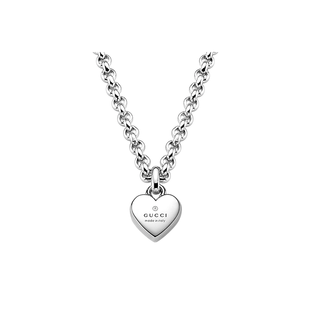 328eec04fbc Gucci Sterling Silver Trademark Heart Pendant From Berry s Jewellers