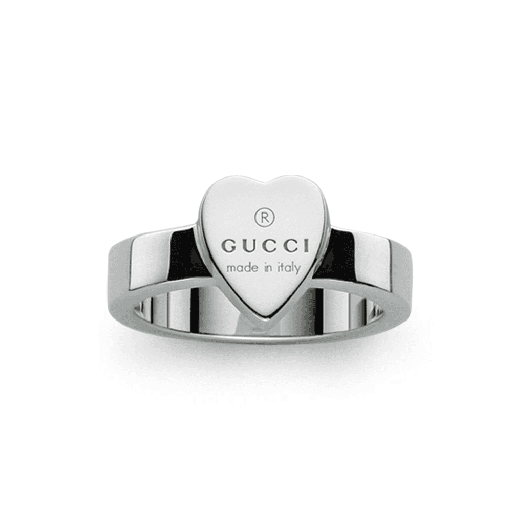 a8fdaedaeb1772 Gucci Sterling Silver Trademark Heart Thin Ring at Berry s Jewellers