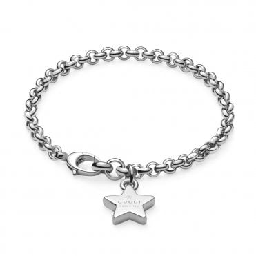 Trademark Sterling Silver Bracelet With Star Charm