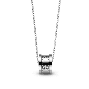 White Gold Icon Twirl Necklace