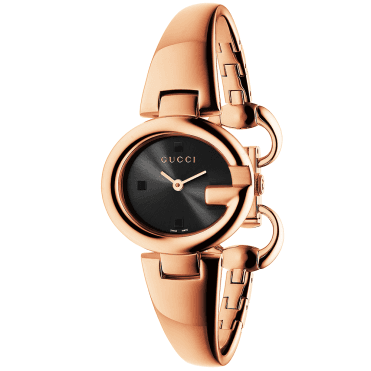 Guccissima 27mm Pink Gold PVD & Black Dial Ladies Watch