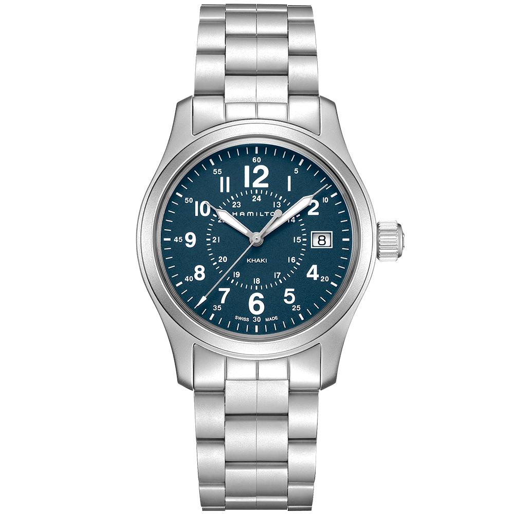 Hamilton Hamilton Khaki Field 38mm Navy Blue Dial Men s Bracelet Watch cc89fa523