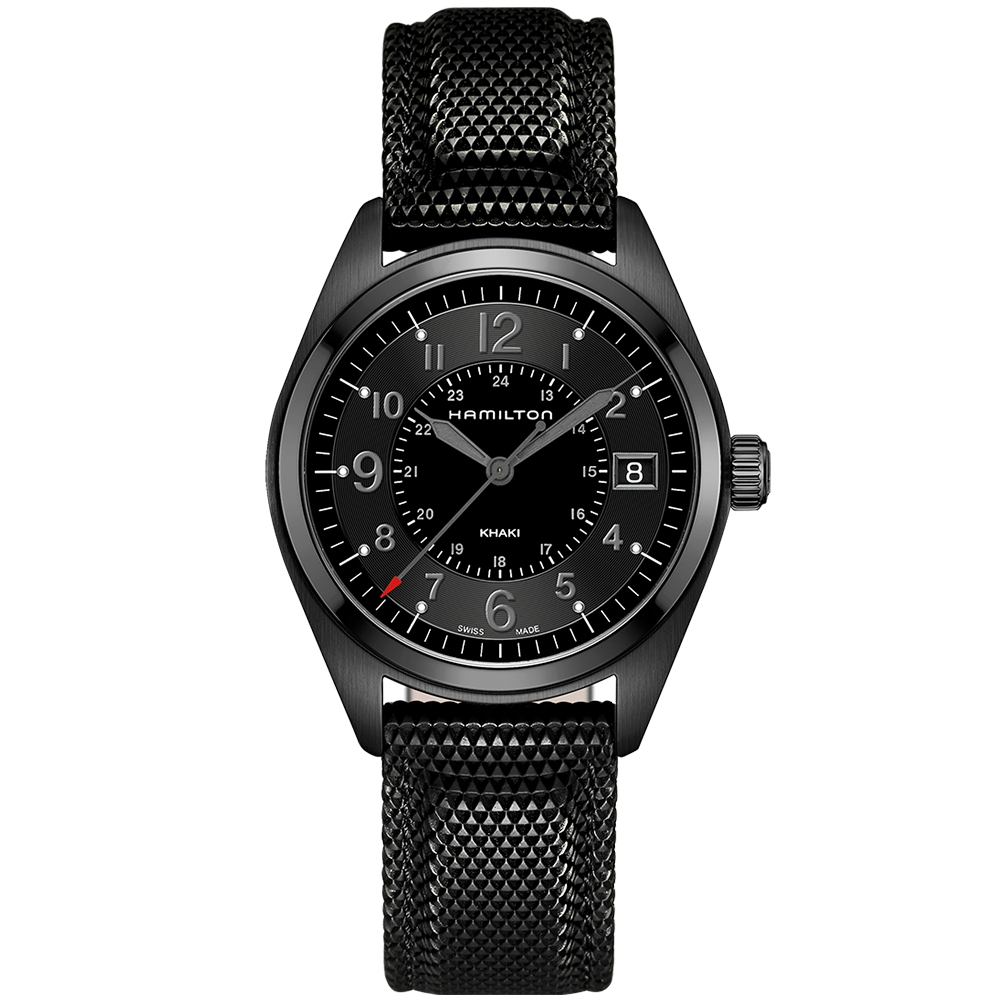 Hamilton Khaki Field 40mm All Black Pvd Men S Strap Watch