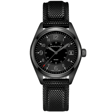 Khaki Field 40mm All Black PVD Men's Strap Watch