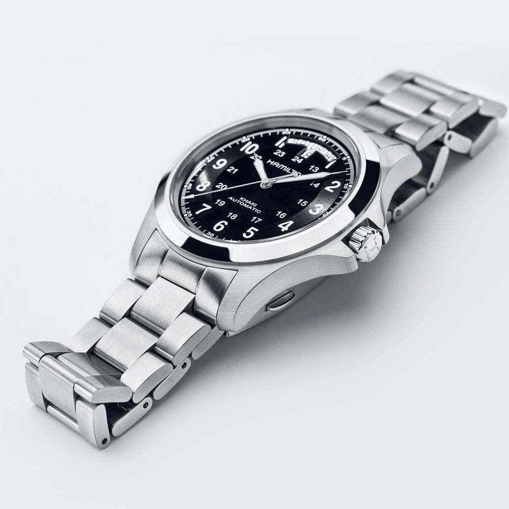 Khaki Field King 42mm Black Dial Bracelet Automatic Watch