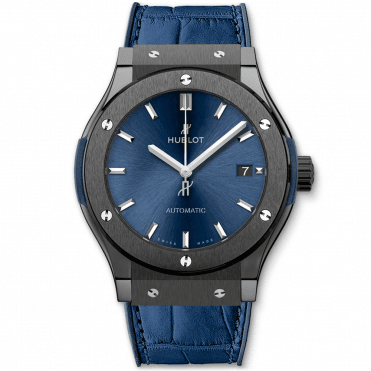 Classic Fusion 45mm Black Ceramic & Blue Dial Automatic Watch