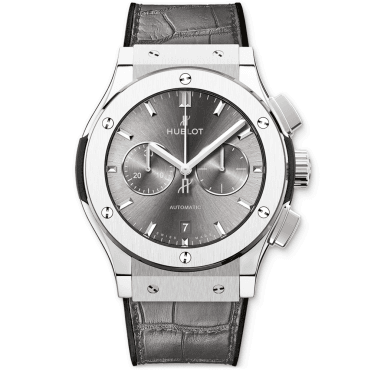 Hublot Classic Fusion Racing Grey Chronograph 42mm Grey Dial Strap Watch