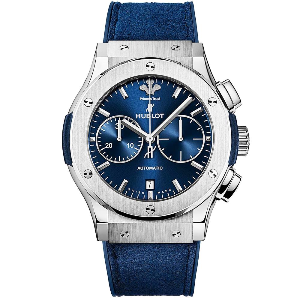 Hublot classic fusion 45mm titanium prince 39 s trust edition watch for Hublot watches