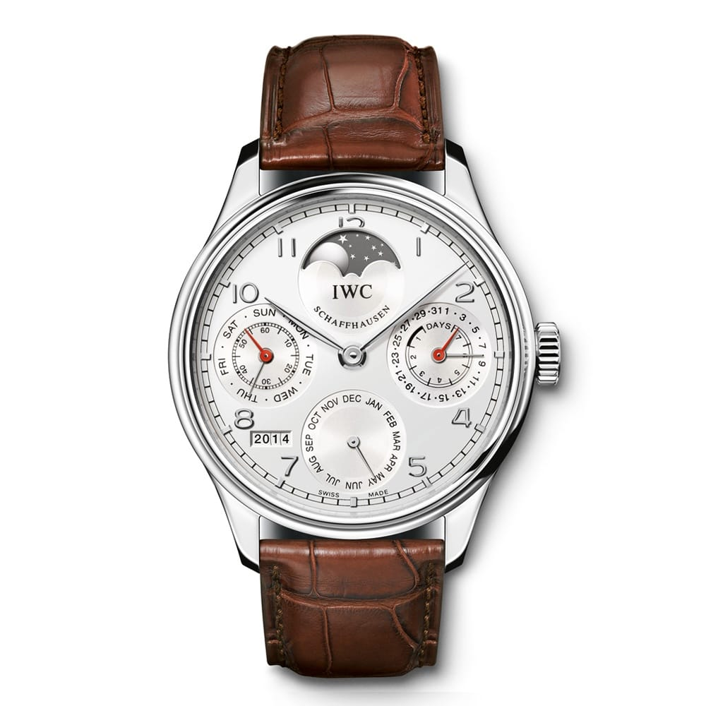 Iwc portuguese stainless steel perpetual calendar men 39 s watch from berry 39 s jewellers for Calendar watches