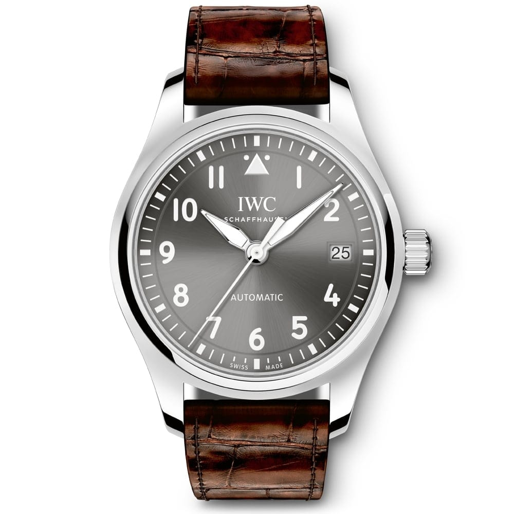 iwc pilots 36 steel anthracite automatic s
