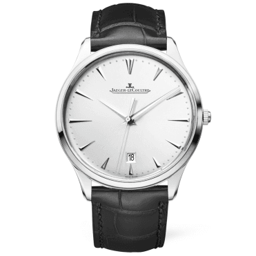Master Ultra Thin Date Steel Silver Dial Automatic Men's Strap Watch