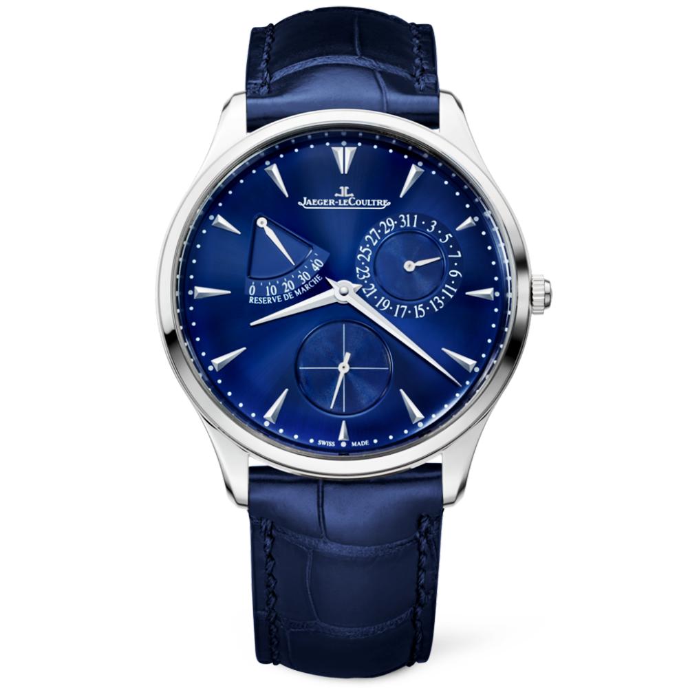 Jaeger LeCoultre Master Reserve De Marche Blue Dial Men s Strap Watch 0fac8a9302