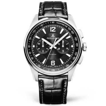 Polaris 42mm Black Dial Men's Automatic Chronograph Strap Watch