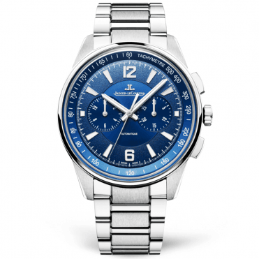 Polaris 42mm Blue Dial Men's Automatic Chronograph Bracelet Watch
