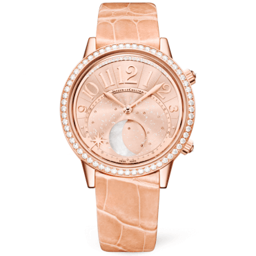 Rendez-Vous 36mm 18ct Pink Gold & Satin Dial Ladies Strap Watch
