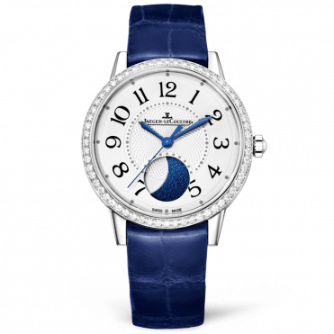 Rendez-Vous Moon 34mm Silver/Blue Dial Diamond Set Watch