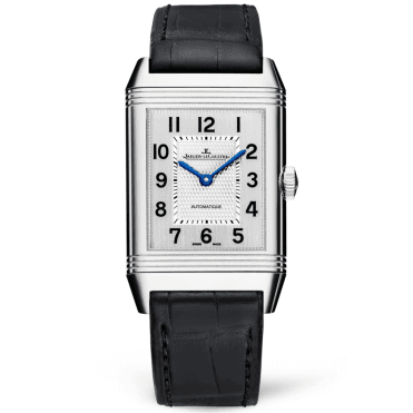 Reverso Classic Large Steel & Silver Dial Automatic Men's Watch