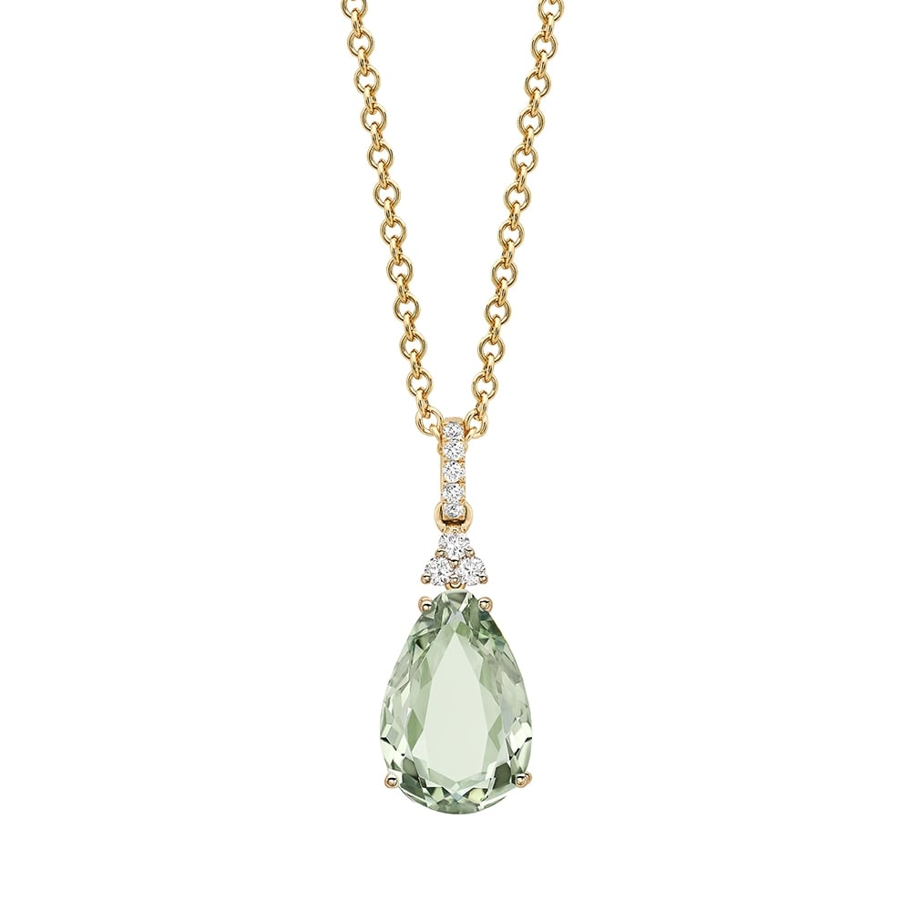 necklace green amethyst