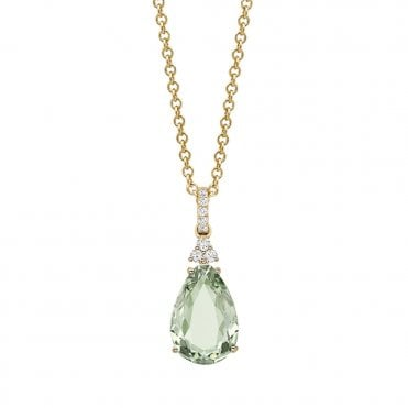 Candy Mini 18ct Yellow Gold & Green Amethyst Pendant