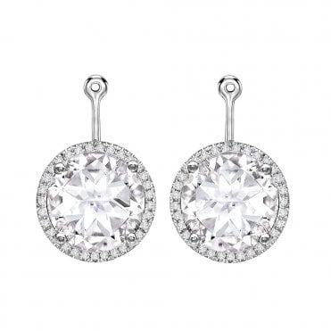 471ca8c0f Grace 18ct White Gold Diamond & White Topaz Detachable Ear Drops