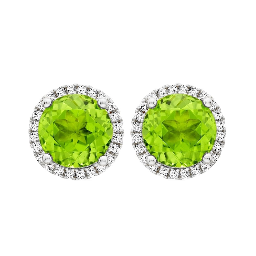 earrings stud jewellery peridot clisson design