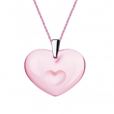 Amoureuse A La Folie Pink Heart Necklace