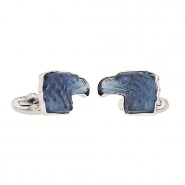 Blue Eagle Head Steel Cufflinks