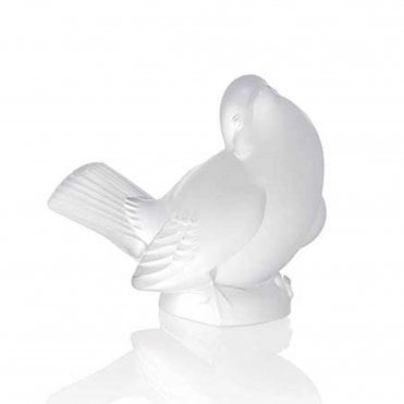 Clear Crystal Sparrow (Head Up) Ornament