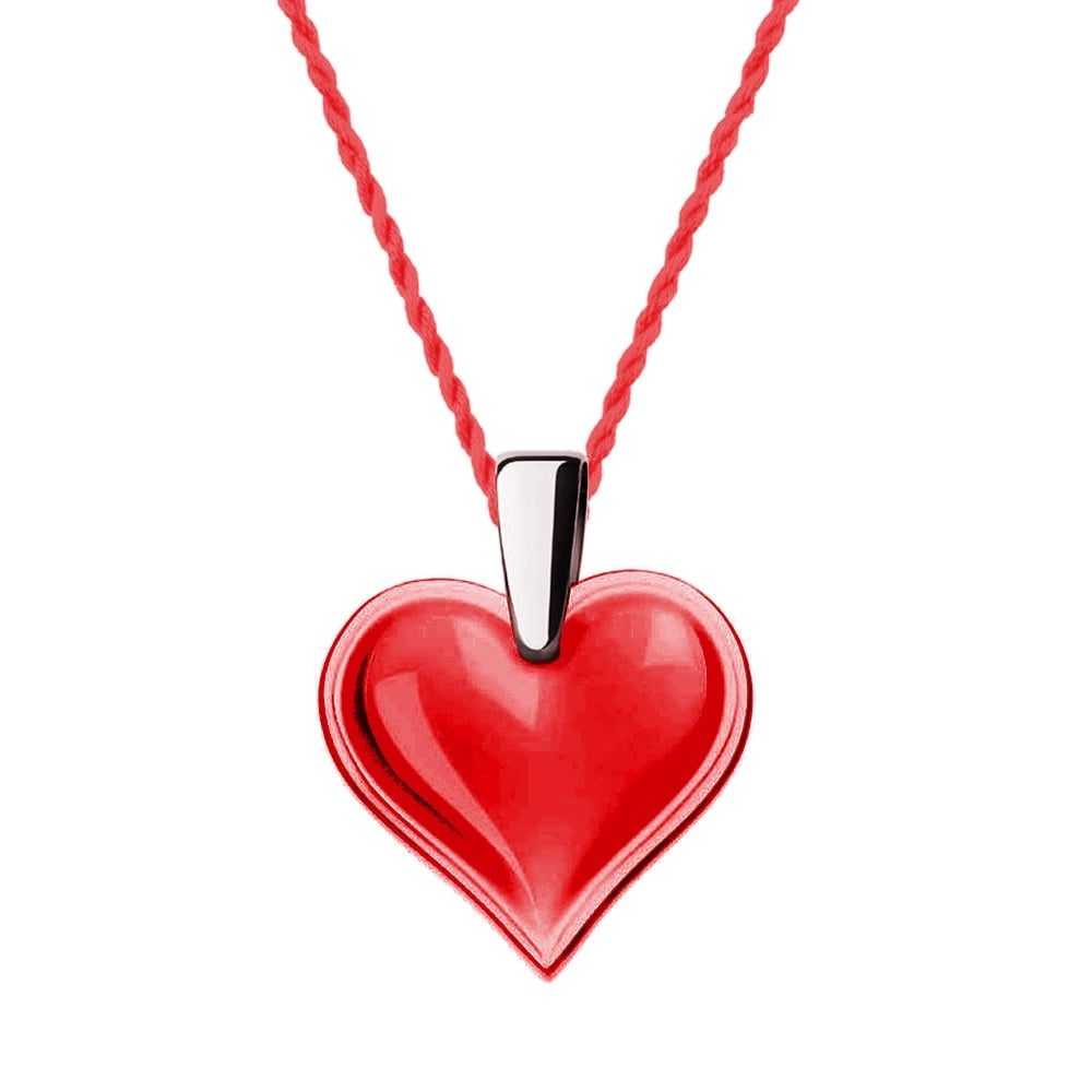 Lalique amoureuse beaucoup red necklace 7772200 red crystal heart necklace aloadofball Image collections