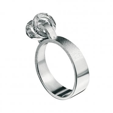 Lapponia Movrings Silver Ring Designed by Christophe Burger