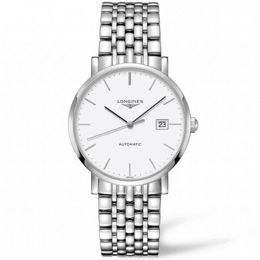 Elegant 39mm White Index Dial Automatic Bracelet Watch