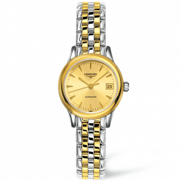 Flagship 26mm Steel & Yellow Gold PVD Champagne Dial Bracelet Watch