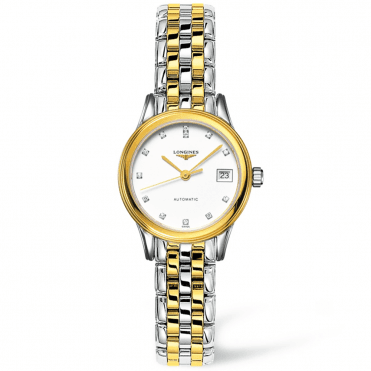 Flagship 26mm Steel & Yellow Gold PVD Diamond Dial Bracelet Watch