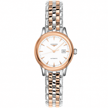Flagship 30mm Two-Tone White Index Dial Ladies Automatic Watch
