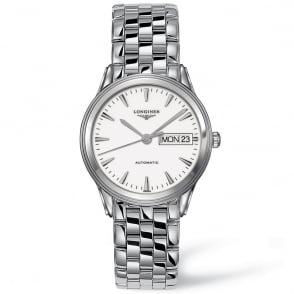 longines flagship 36mm blue day date dial men s bracelet watch longines flagship 36mm white day date dial men s watch