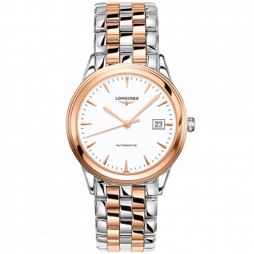 Flagship 38.5mm Two-Tone White Index Dial Men's Automatic Watch