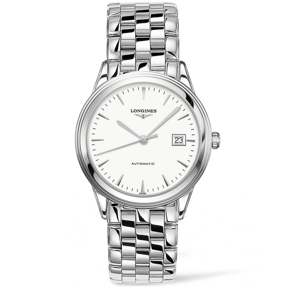 c02516d0296 Longines Longines Flagship 38.5mm White Index Dial Men s Automatic Watch