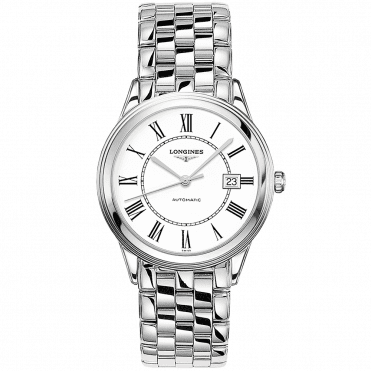 Flagship 38.5mm White Roman Dial Men's Automatic Watch