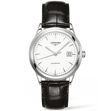 Flagship 38mm White Dial Automatic Leather Strap Watch