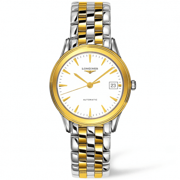 Flagship Automatic Steel and Gold PVD White Dial Men's Watch