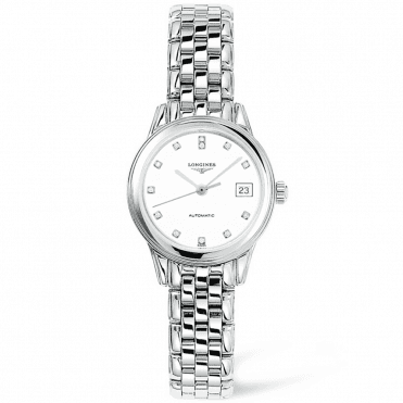 Flagship Automatic Steel White Diamond Dial Ladies Watch