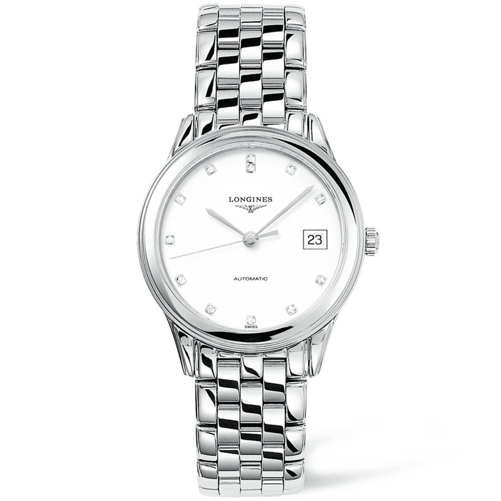 6995ff9ac4d Longines Longines Flagship Automatic Steel White Diamond Dial Men s Watch