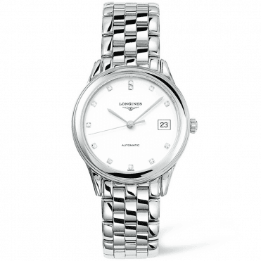 Flagship Automatic Steel White Diamond Dial Men's Watch