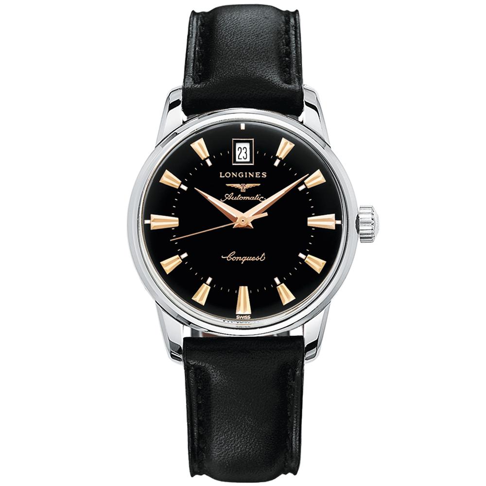 5b59c9b72 Longines Longines Heritage 35mm Black/Rose Dial Automatic Men's Watch