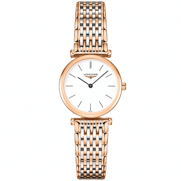La Grande Classique 24mm Two-Tone White Index Dial Bracelet Watch