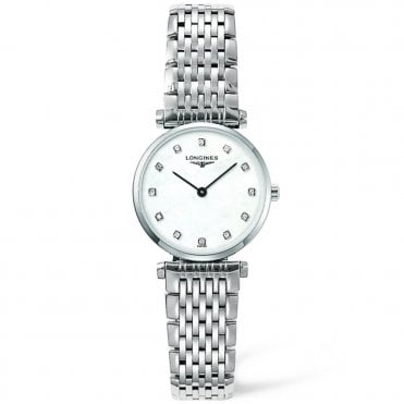 La Grande Classique Steel Diamond Dial Ladies Bracelet Watch