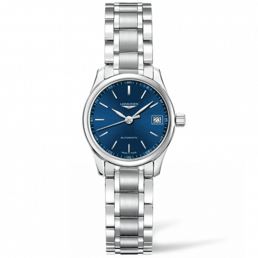 Master 25mm Blue Index Dial Automatic Ladies Bracelet Watch