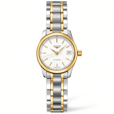 Master Automatic White Dial Steel and Gold Ladies Watch