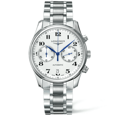 Master Chronograph 40mm Silver Arabic Dial Automatic Bracelet Watch