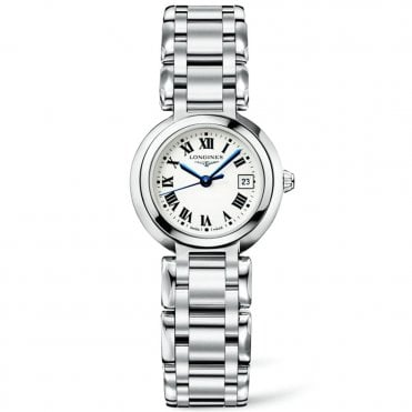 Prima Luna Steel Silver Roman Dial Ladies Watch